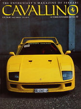 Cavallino Oct/Nov 1989 #53 - Ferrari, real racing F40, F1 Barnard & Berger