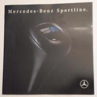MERCEDES BENZ SPORTLINE RANGE orig 1991 UK Mkt Large Format Sales Brochure