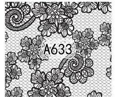 Nail Art Decals Transfers Stickers Lace Pattern (A-633)