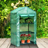 Garden Greenhouse Plant Flower Grow Tunnel Shelf Sheds PVC Cover Hot Green House