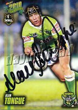 ✺Signed✺ 2010 CANBERRA RAIDERS NRL Card ALAN TONGUE