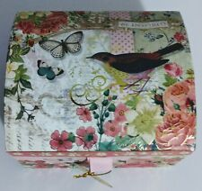 Punch Studio Musical Keepsake Box With Soap - Be Inspired - Birds flowers