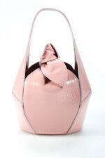 Dlyp Feminina Couro Envernizado Top Knot Bolsa De Ombro Mini Blush Rosa