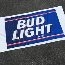 Vintage 90's Bud Light Beer Towel