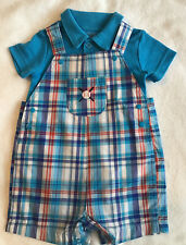 CARTER'S 'JUST FOR YOU'  DUNGAREES SHORTS AND BODY SUIT AGE 6MTHS