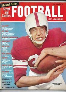 1957 Street & Smith's Football Yearbook Magazine---Clendon Thomas  VG