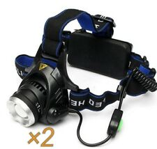 2 × XANES xml t6 Bike Bicycle Lampe Lumineuse Zoomable Adjustable DEL Light