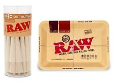 RAW Organic King Size Cones (50 Pack) and Mini RAW Tray