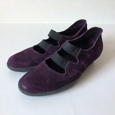 Arche Women's Shoes, Flavor Purple Suede Nubuck Sole Slip On Kitten Heel US 6