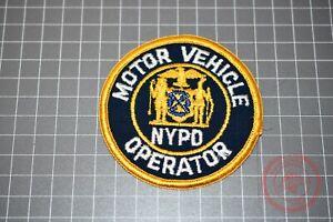 NYPD Motor Vehicle Operator Patch (B-NY)