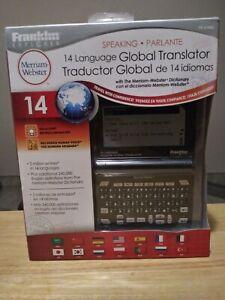 Franklin Explorer FR-S1400 Speaking Global Translator 14 Languages Electronic