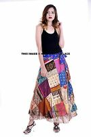 Vintage Silk Saree Recycled Patchwork Magic Wrap Around Skirt Reversible Dress