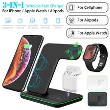 3 in 1 15W Fast Qi Wireless Charger Dock Stand For Apple iWatch Airpod iPhone