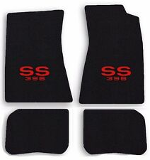 NEW! 1968-1972 Chevelle Floor Mats Black Carpet Embroidered SS 396 Red logo 4 pc