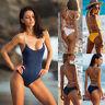 Women Sexy One-Piece Swimsuit Beachwear Swimwear Push-up Monokini Bikini Bathing
