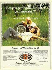 1975 FORD JOHN GOSS AUNGER WHEELS A3 POSTER AD ADVERT ADVERTISEMENT BROCHURE