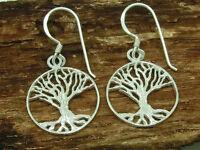 Árbol de la Vida Pendientes de Plata 925 Yggdrasil Árbol de la Vida Celta
