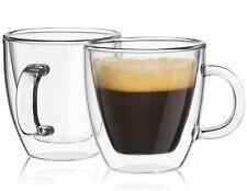 JoyJolt Savor Double Wall Insulated Glasses, Set of 2 5.4 Ounce Espresso Mugs
