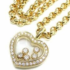 Chopard Happy Diamonds 18K Yellow Gold Heart Necklace $9850
