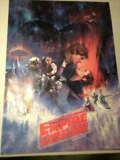 Very Rare Empire Strikes Back Star Wars Poster With Red Lettering 1980 Sealed