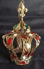Regal Regency Rosso Verde e Oro Corona da Appendere Albero di Natale Decorazione Ornamento