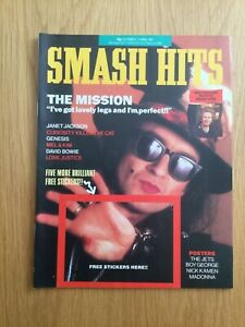 Smash Hits Magazine March 1987 Bowie, Madonna, Prince, Janet, Genesis, VGC