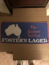 Bar Towel, Beer, Foster's Lager, The Amber Nectar - Australian For Beer! Great!