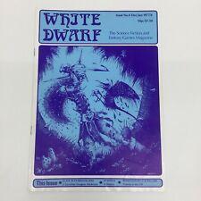 WHITE DWARF MAGAZINE ISSUE 4 FIRST PRINT 1977/8 GAMES WORKSHOP WARHAMMER D&D TSR