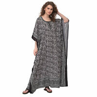 Women African Plus Size Caftan Beach Cover Boho Kaftan Dress Gown Hippie Beach