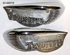 TRIUMPH chromed Eyebrow SERBATOIO indossabili tr6 t120 Bonneville 82-6887 82-6888 1966 -68