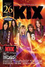 """KIX """"ROCK YOUR FACE OFF"""" 2016 NEW YORK CONCERT TOUR POSTER-Glam Metal, Hard Rock"""
