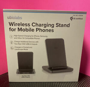 NEW Ubio Labs Wireless Charging Stand Mobile Phones iPhone Xs 8 8+ GalaxyBOX