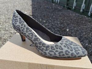 Clarks 'Linvale Jerica' Leopard Print Court Shoes - Size 5 - BNIB