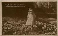 Adel Monarchie ~1910/15 Prinzessin Alexandrine von Preußen als Kind Bollerwagen