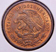 Mexico 1956 10 Centavos CH BU RD Toned Coin, ¡Fecha Clave Moneda Bien Roja SC!