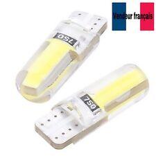 2 VEILLEUSES LED T10 W5W étanche Silicone BLANC XENON 4300k