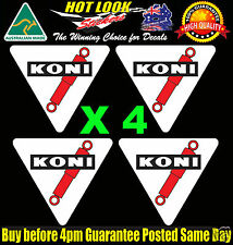 KONI SHOCKS Decals x4 25mm Suit Motor Bike Motor Cycle Motocross Racing Shocker