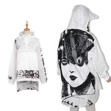 Girls Vintage Harajuku Junji Ito Anime Hoodie Jacket Coat Long Sleeve Floral