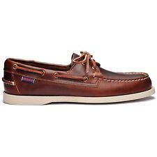 Sebago Docksides Portland Brown Waxed 900 Boat Shoe Men's sizes 7-15 Medium/NEW!