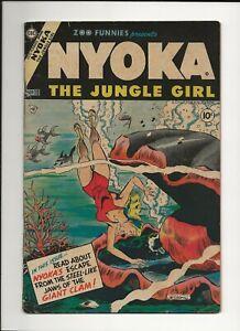 ZOO FUNNIES #10 1955 CHARLTON GOLDEN AGE JUNGLE NYOKA THE JUNGLE GIRL VG