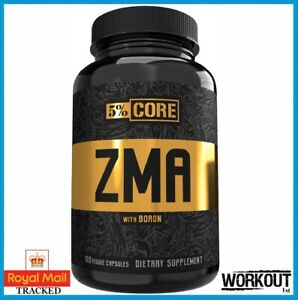Rich Piana 5% Nutrition Core ZMA 180 Caps Zinc Magnesium Vitamin B6 Boron