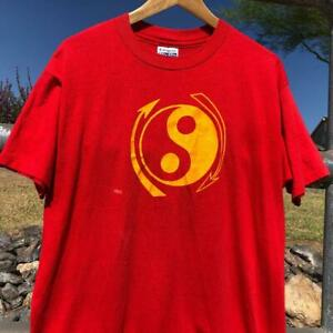 VTG 80s/90s Red Hanes Fifty-Fifty Yin Yang Buttery Soft SINGLE STITCH T Shirt XL
