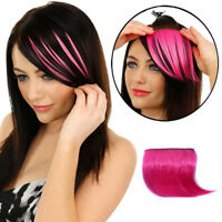 Fashion Women Clip On Bangs Fringe Colorful Hairpiece Synthetic Hair Extensions