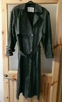 Vintage 1980s Jaeger Ladies Dog Tooth Trench Coat Size 8