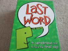 Dernier mot Board Game ~ un désopilants Course à avoir le dernier mot ~ complet
