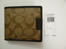 NWT COACH Mens Signature C Heritage Logo Coin Wallet F74741