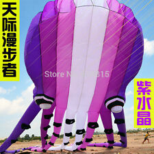 Huge 3D eyes 15m 1 Line Stunt Parafoil Octopus POWER Sport Kite outdoor toy