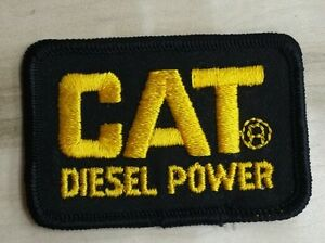 """NEW!! Cat Diesel Power vintage patch 3""""x2"""" Iron Or Sew On Over 20 Years Old"""