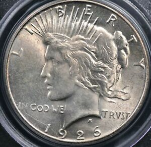 1926 S PEACE DOLLAR PCGS MS 61 SMOOTH AND LUSTROUS CREAMY VANILLA WELL STRUCK