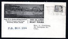 1971 Brockville, LDS, slogan.  Capt. W.L. Snider, Furniture Transport. Cartage.